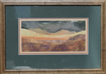 Luminous Hills, framed